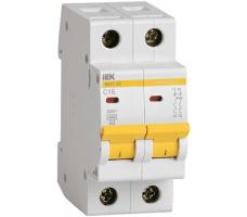 Автоматический выключатель IEK 2-полюсный ВА47-29 10A