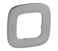 Рамка одноместная Valena Allure (Полированная сталь)