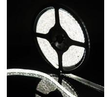 Светодиодная лента герметичная белого холодного свечения 3528 600 LED, IP 65, 9,6 Вт/м, 12V