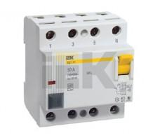 Выключатель дифференциального тока (УЗО) 4п 25А 30мА ВД1-63 АС (MDV10-4-025-030)