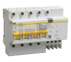 Выключатель автоматический дифференциальный АД-14 4п 16А 30мА С