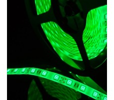 Светодиодная лента герметичная зеленого свечения 5050 300 led, IP65, 14,4 Вт/м, 12V