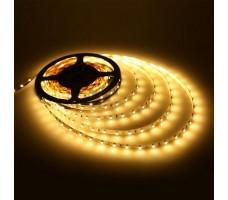 Светодиодная лента открытая белого теплого свечения 5050 300 LED, IP 20, 14,4 Вт/м, 24V
