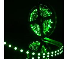 Светодиодная лента открытая зеленого свечения 3528 300 LED, IP 20, 4,8 Вт/м, 12V