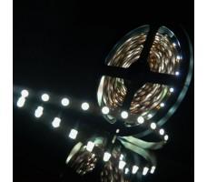 Светодиодная лента открытая белого холодного свечения 3528 300 LED, IP 20, 4,8 Вт/м, 12V