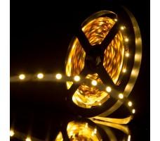 Светодиодная лента открытая белого теплого свечения 3528 300 LED, IP 20, 4,8 Вт/м, 12V