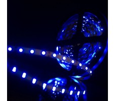 Светодиодная лента открытая синего свечения 3528 300 LED, IP 20, 4,8 Вт/м, 12V