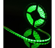 Светодиодная лента герметичная зеленого свечения 3528 300 LED, IP 65, 4,8 Вт/м, 12V