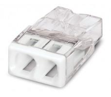 Клемма 2x2.5мм белая/прозрачная