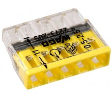 Клемма 5x2.5мм желтая/прозрачная 2273-205