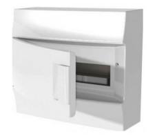 Щит распределительный навесной ЩРн-п Mistral41 12М пластиковый прозрачная дверь с клеммами