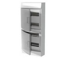 Щит распределительный навесной ЩРн-п Mistral41 48М пластиковый прозрачная дверь с клеммами
