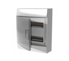 Щит распределительный навесной ЩРн-п Mistral41 24М пластиковый прозрачная дверь с клеммами