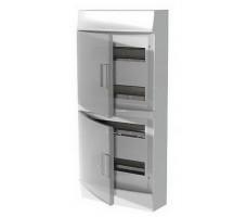 Щит распределительный навесной ЩРн-п Mistral41 72М пластиковый прозрачная дверь с клеммами
