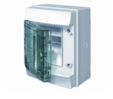 Щит распределительный навесной ЩРн-П 4М пластиковый прозрачная дверь IP65 серый Mistral65 без клемм