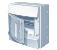 Щит распределительный навесной ЩРн-П-8 пластиковый непрозрачная дверь IP65 серый Mistral65 без клемм