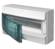 Щит распределительный навесной ЩРн-П-12 пластиковый прозрачная дверь IP65 серый Mistral65 без клемм