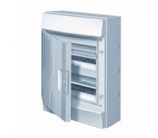 Щит распределительный навесной ЩРн-П-24 пластиковый непрозрачная дверь IP65 серый Mistral65 без клемм