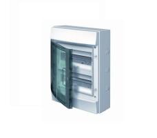 Щит распределительный навесной ЩРн-П-24 пластиковый прозрачная дверь IP65 серый Mistral65 без клемм