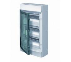 Щит распределительный навесной ЩРн-П-36 пластиковый прозрачная дверь IP65 серый (3 ряда) Mistral65 б/к
