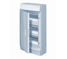 Щит распределительный навесной ЩРн-П-36 пластиковый непрозрачная дверь IP65 серый (3 ряда) Mistral65 б/к