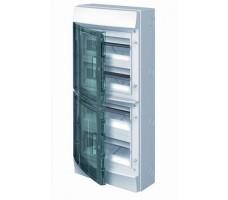 Щит распределительный навесной ЩРн-П-48 пластиковый прозрачная дверь IP65 серый Mistral65 без клемм