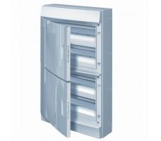 Щит распределительный навесной ЩРн-П-72 пластиковый непрозрачная дверь IP65 серый Mistral65 без клемм