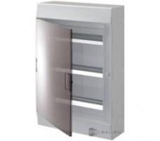 Щит распределительный встраиваемый ЩРв-п Mistral41 54М пластиковый прозрачная дверь с клеммами