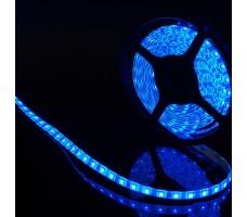 Светодиодная лента герметичная синего свечения 5050 300 led, IP65, 14,4 Вт/м, 12V