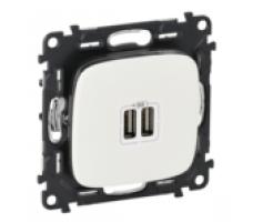 Розетка USB Valena Allure (белая)