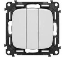 Выключатель трехклавишный Valena Allure (белый)