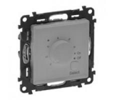 Valena Life терморегулятор для теплого пола с лицевой панелью (алюминий)