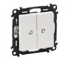 Valena Life выключатель двухклавишный с подсветкой (белый)