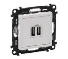 Valena Life розетка USB с лицевой панелью (белая)