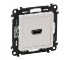 Valena Life розетка HDMI  с лицевой панелью (белая)