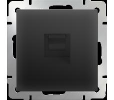 Телефонная розетка RJ-11  Werkel черная