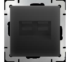 Розетка телефонная RJ-11 и Ethernet RJ-45 Werkel черная