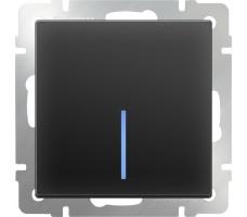 Выключатель одноклавишный с подсветкой LED Werkel Черный