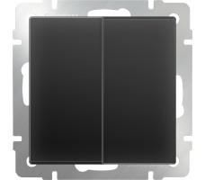 Выключатель двухклавишный Werkel Черный