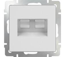 Розетка телефонная RJ-11 и Ethernet  Werkel белая