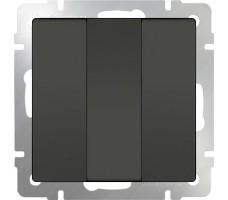 Выключатель трехклавишный Werkel серо-коричневый