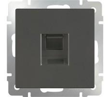 Телефонная розетка RJ-11 Werkel сере-коричневая