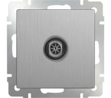 ТВ-розетка оконечная Werkel серебрянная рифленая