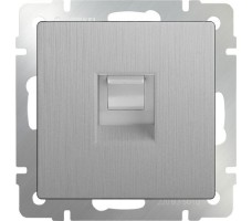 Розетка Ethernet RJ-45 Werkel серебрянная рифленая