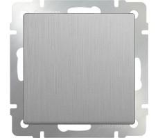 Выключатель одноклавишный Werkel серебрянная рифленая