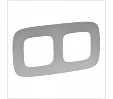 Рамка двухместная Valena Allure (Алюминий)