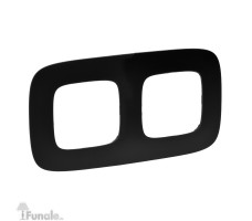 Рамка двухместная Valena Allure (Матовый черный)