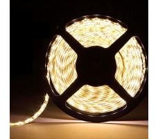 Светодиодная лента герметичная теплого белого свечения 5050 600 LED, IP 65, 28,8 Вт/м, 24V