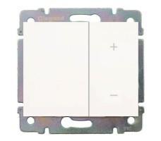 Cветорегулятор кнопочный Legrand Galea Life 40-400Вт (белый)