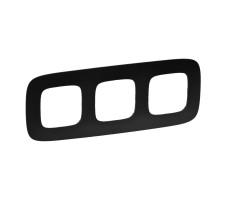 Рамка трехместная Valena Allure (Матовый черный)